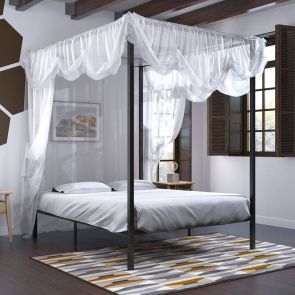 canopy bed frame in the home