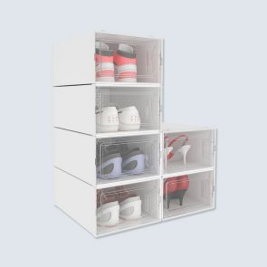 new design stackable shoe storage boxes