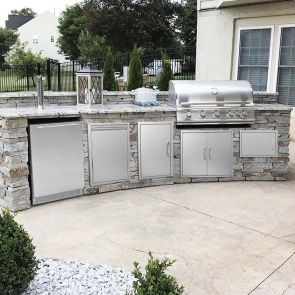 Stainless steel bbq access doors