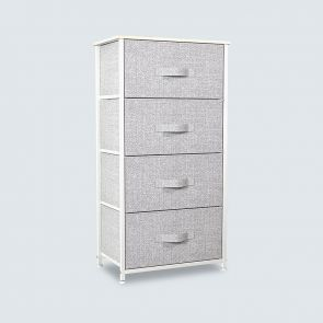 4 drawer chest light gray