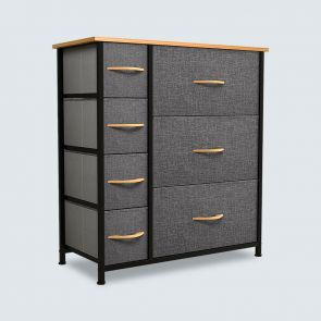7 drawer storage tower cool gray