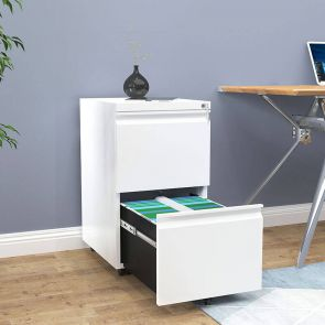 2 drawer filing cabinet in office