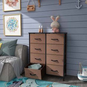 wide storage drawer in the bedroom
