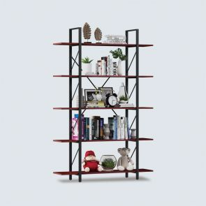 2021 5 shelf cherry bookcase