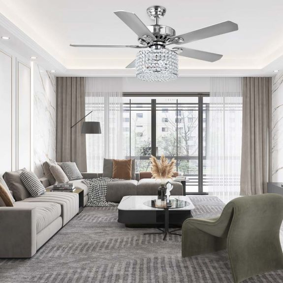 Modern Ceiling Fan With, Living Room Ceiling Fans
