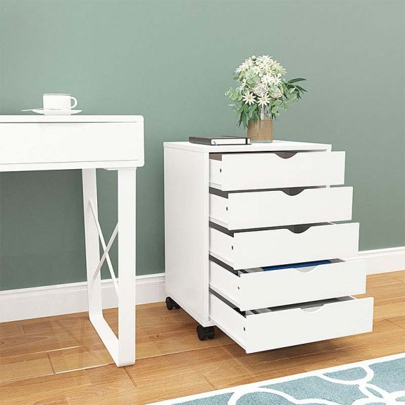 5 Drawer Wood File Cabinets For, White Wood File Cabinet