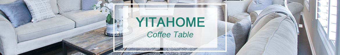 coffee table with lift top banner