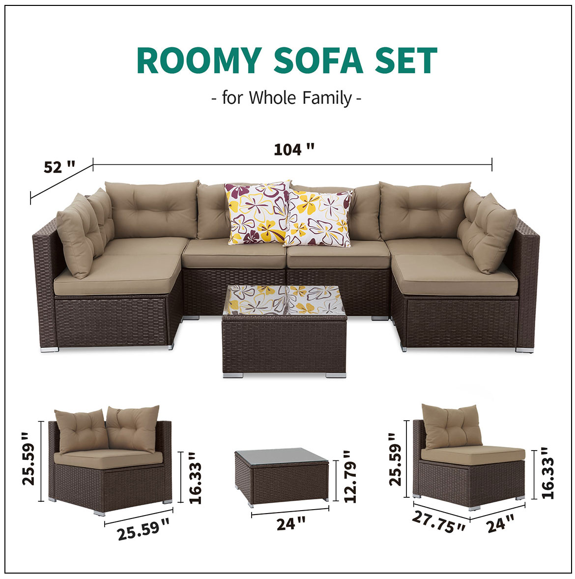 outdoor furniture sets sizes