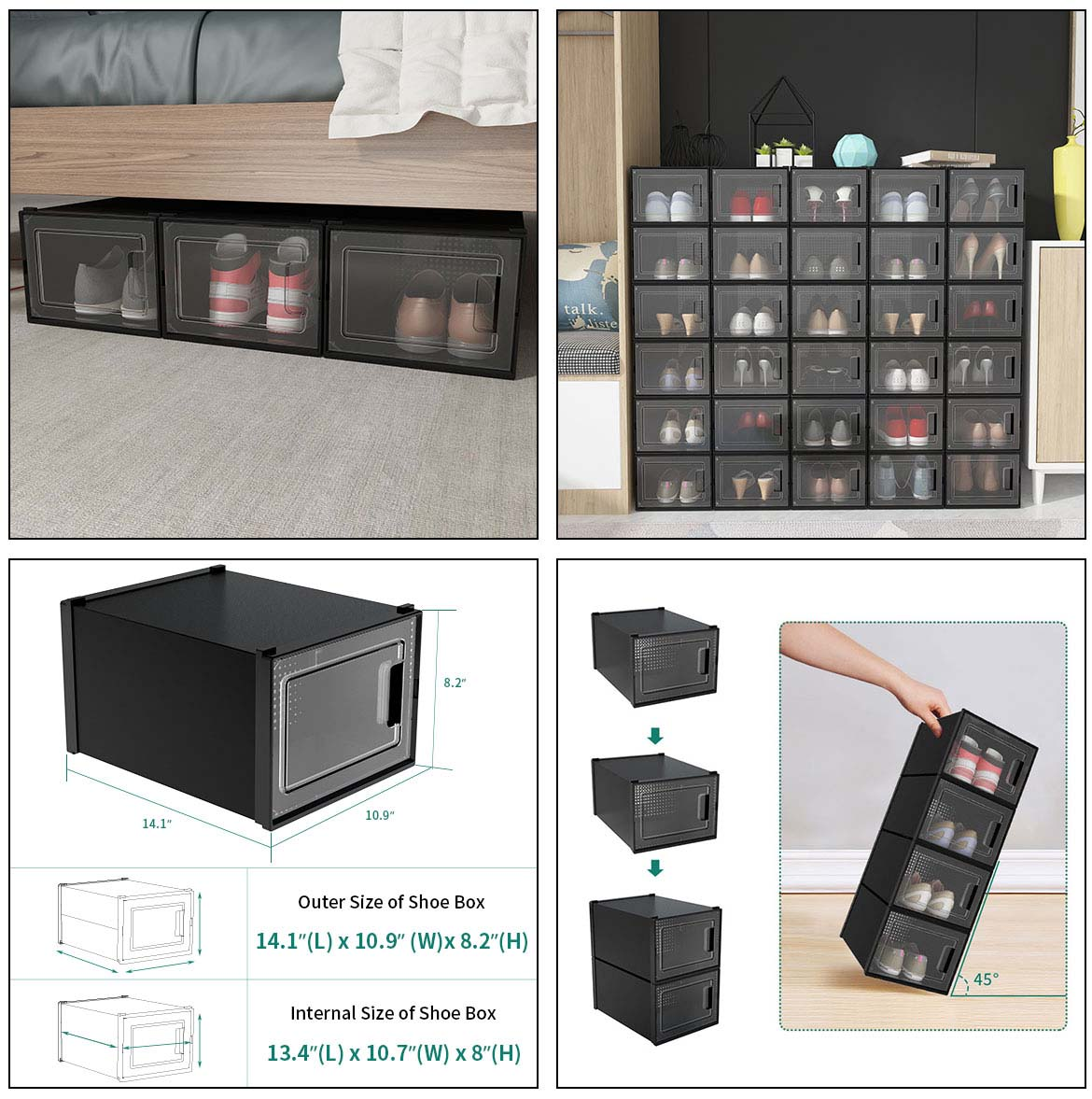 use and size of shoe crates