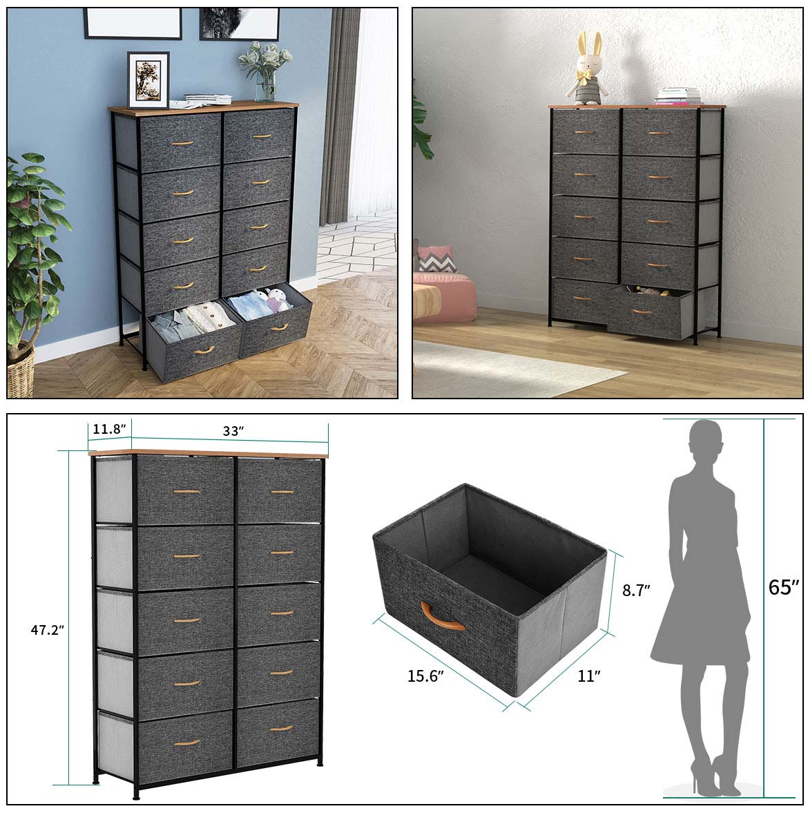 10 drawer chest detail size