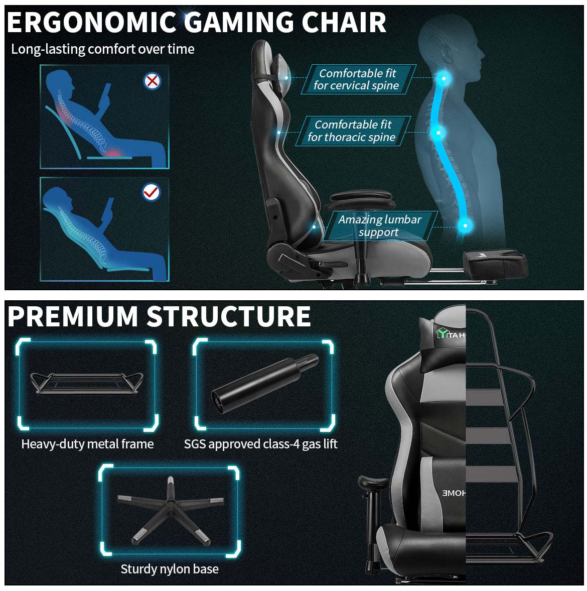 best gaming chair detail feature