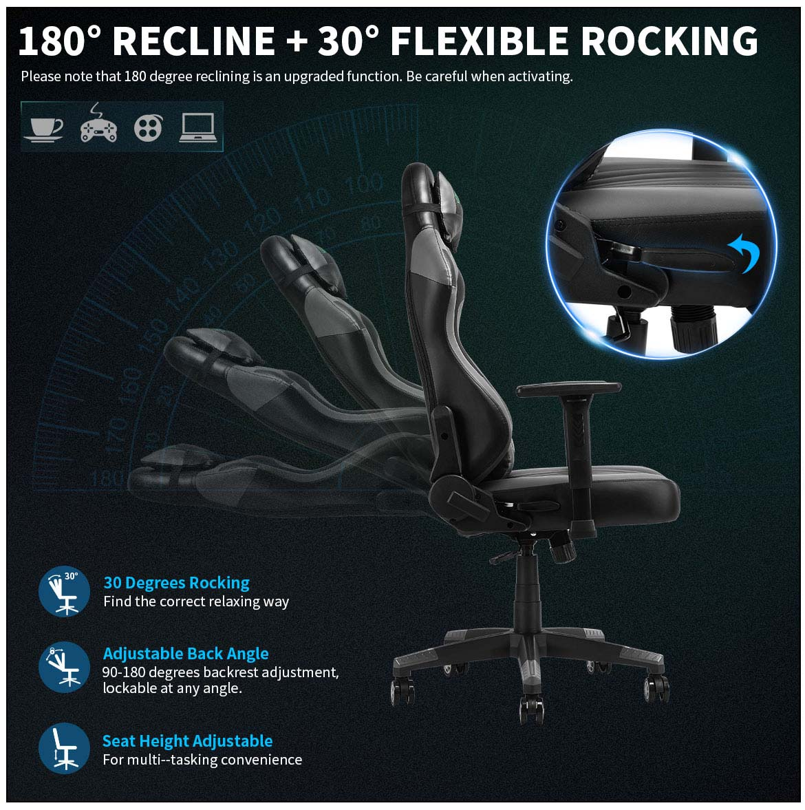 best gaming chairs detail flexible rocking