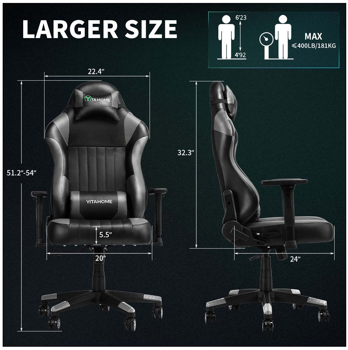 best gaming chairs detail large size