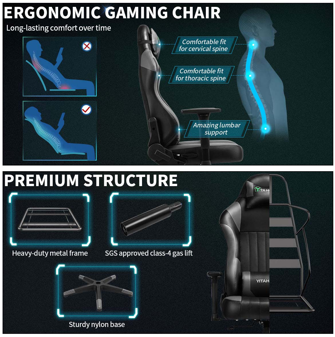 best gaming chairs detail premium structure