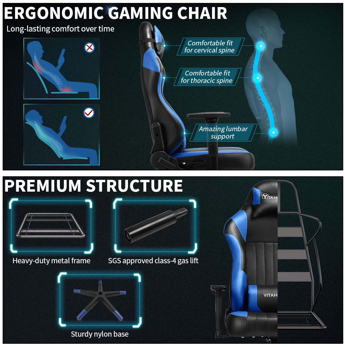 good gaming chairs detail premium structre