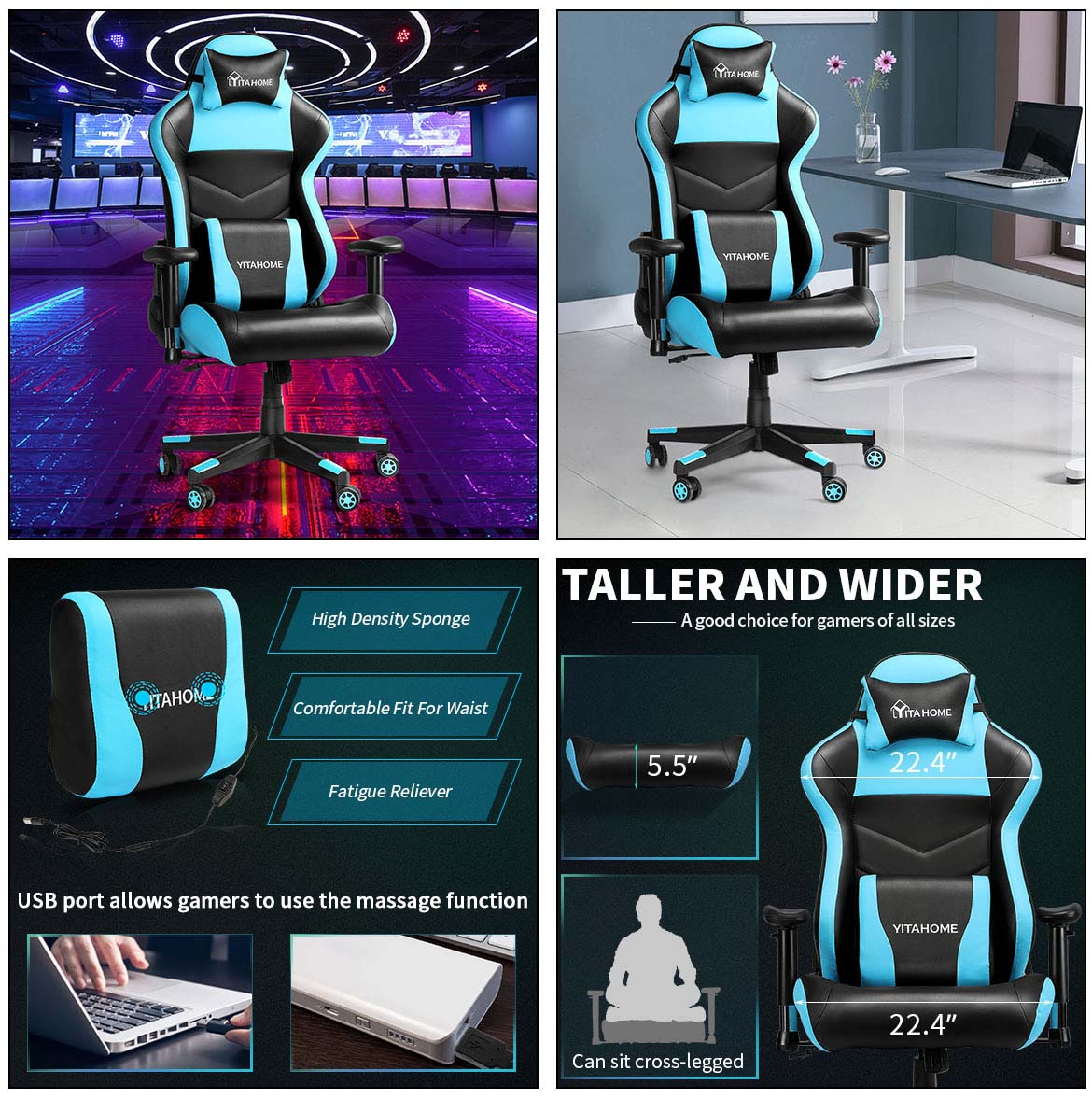 massage gaming chairs detail