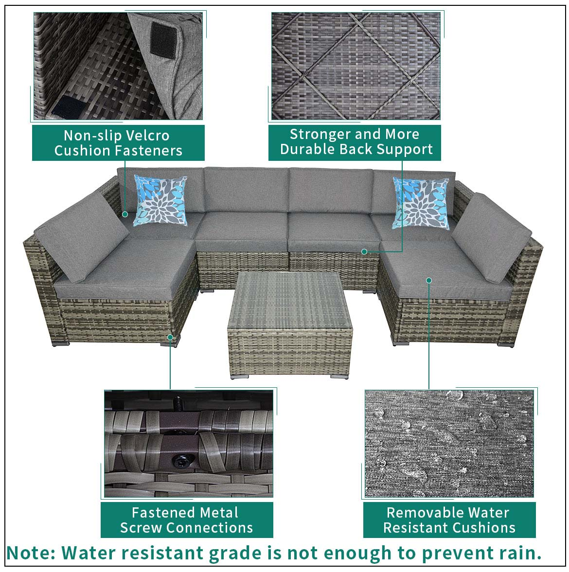 modern outdoor sectional feature