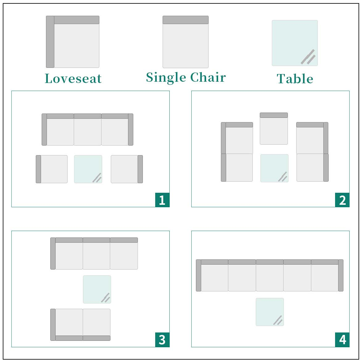 outdoor sectional furniture effect