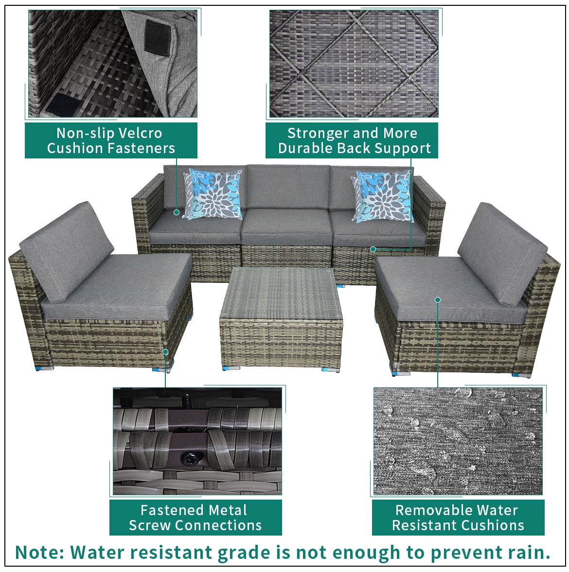 outdoor sectional furniture feature
