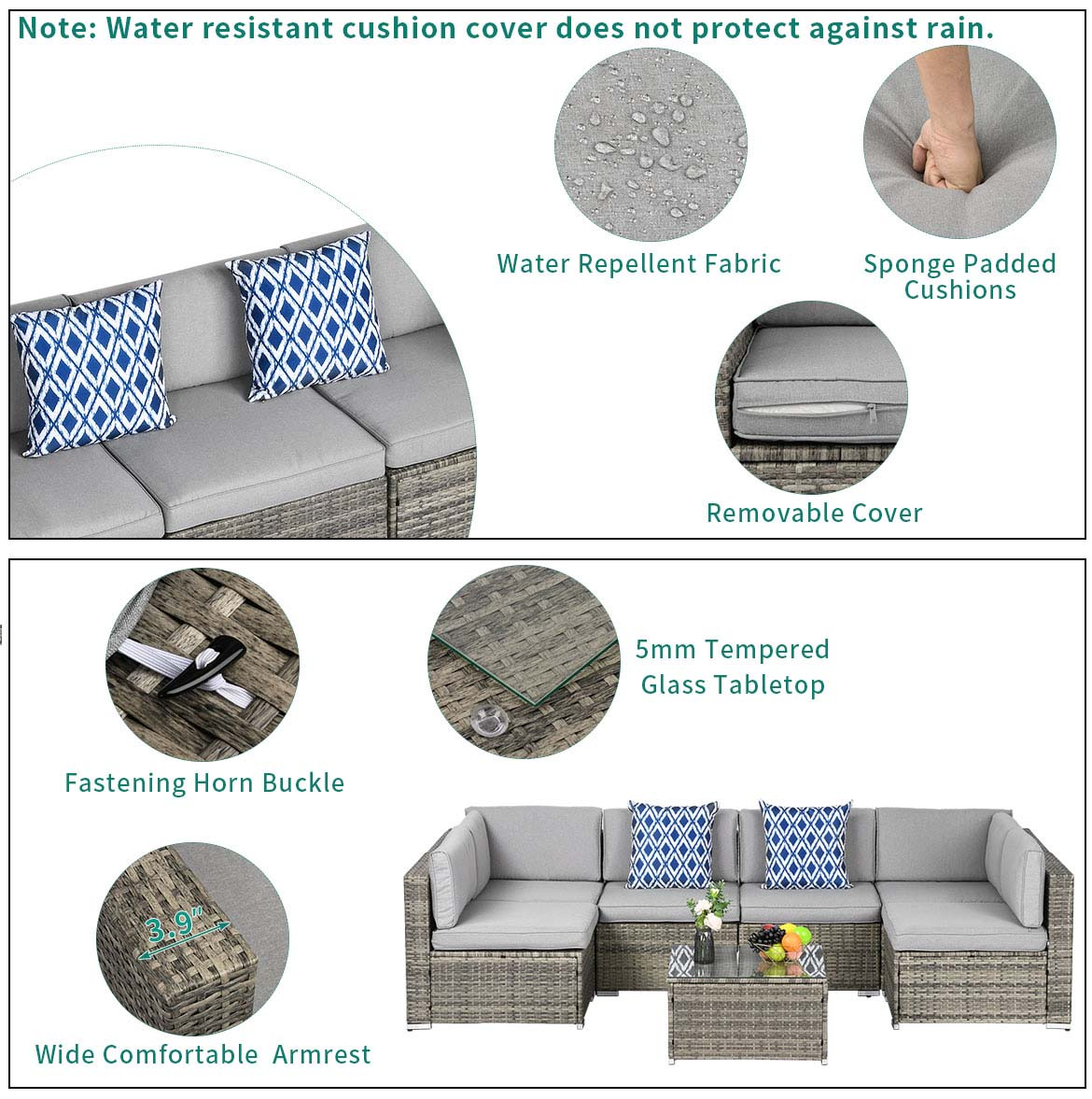 outdoor sofa set detail feature 1