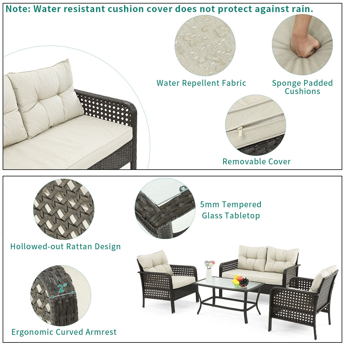 outdoor furniture sets detail feature