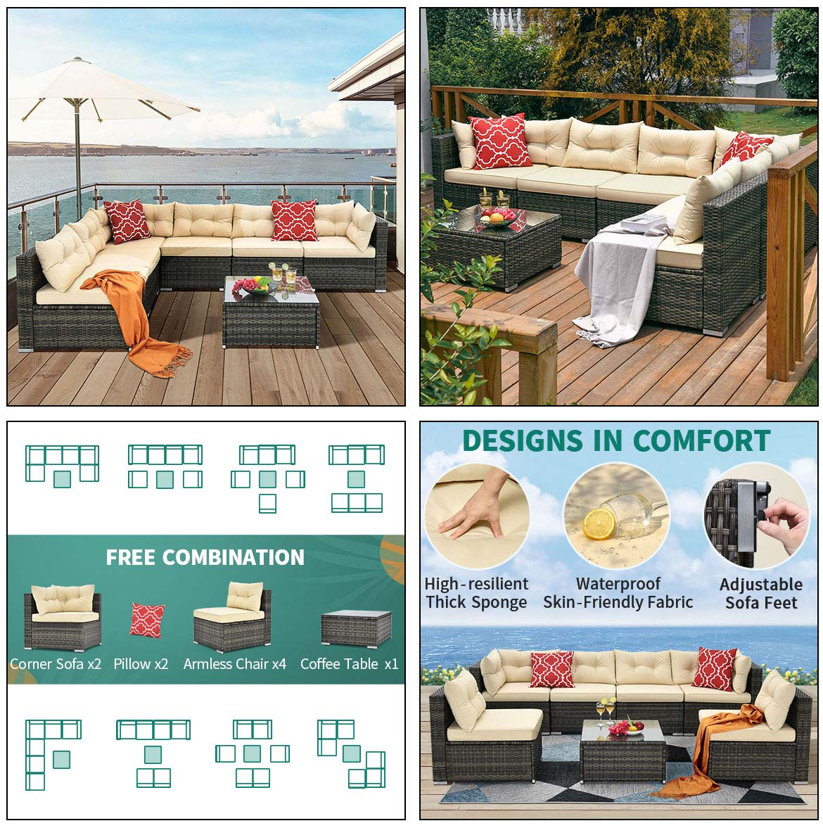 outdoor sectional detail