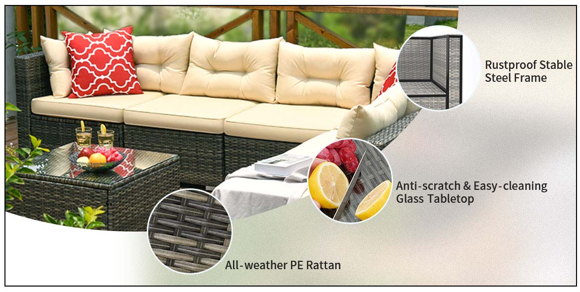 outdoor sectional detail feature