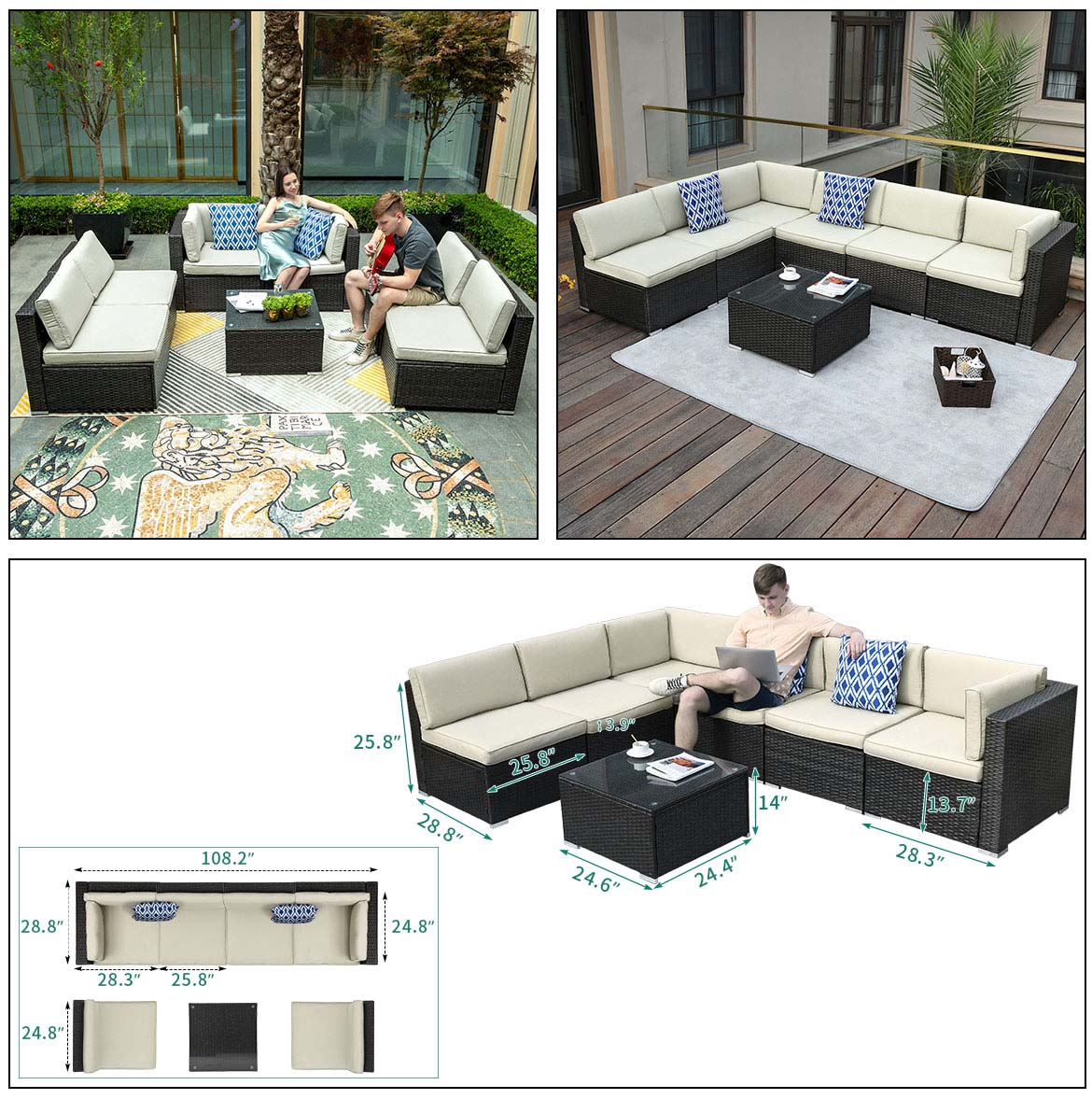 outdoor sectional sofa detail size 1
