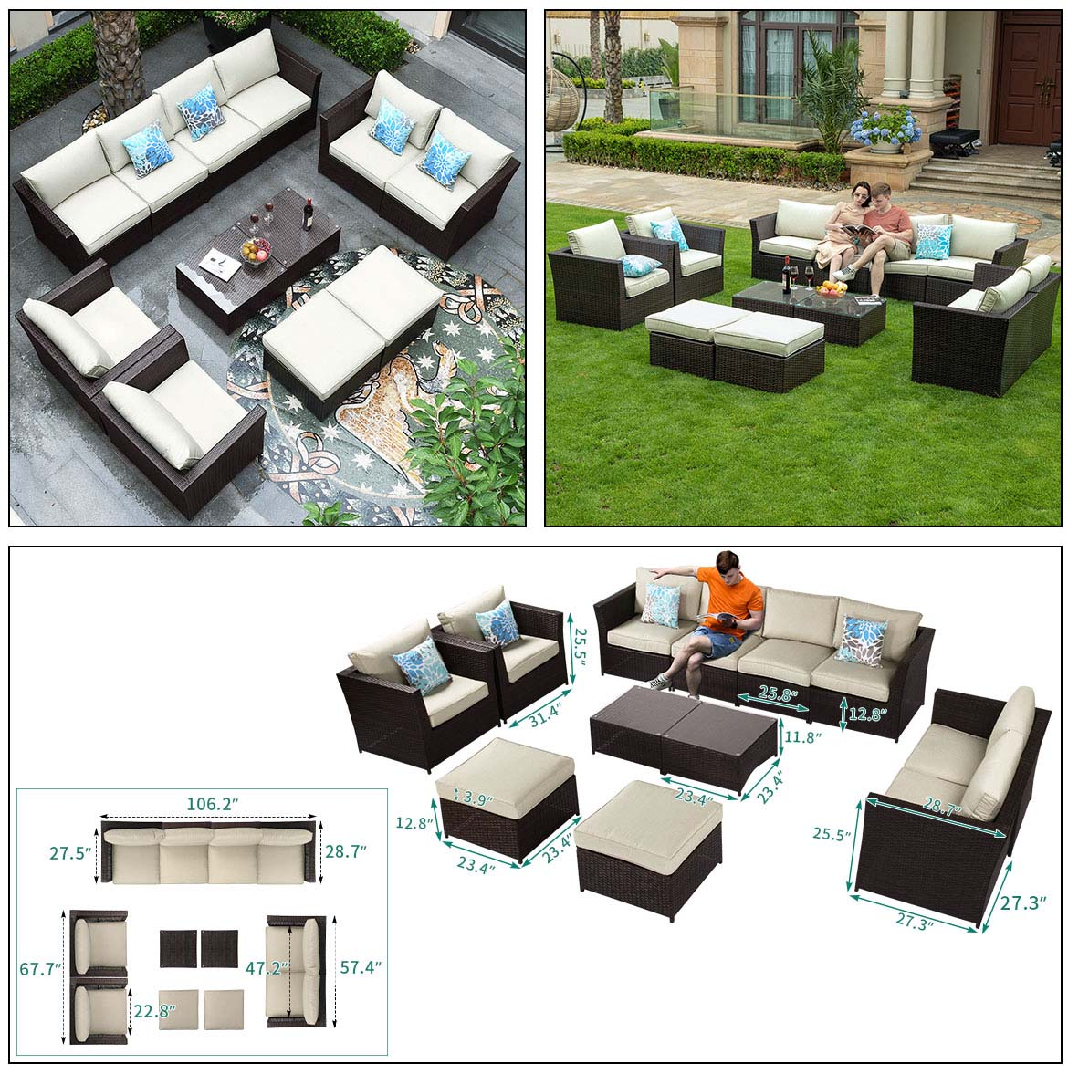 outdoor sectional sofa detail size 2