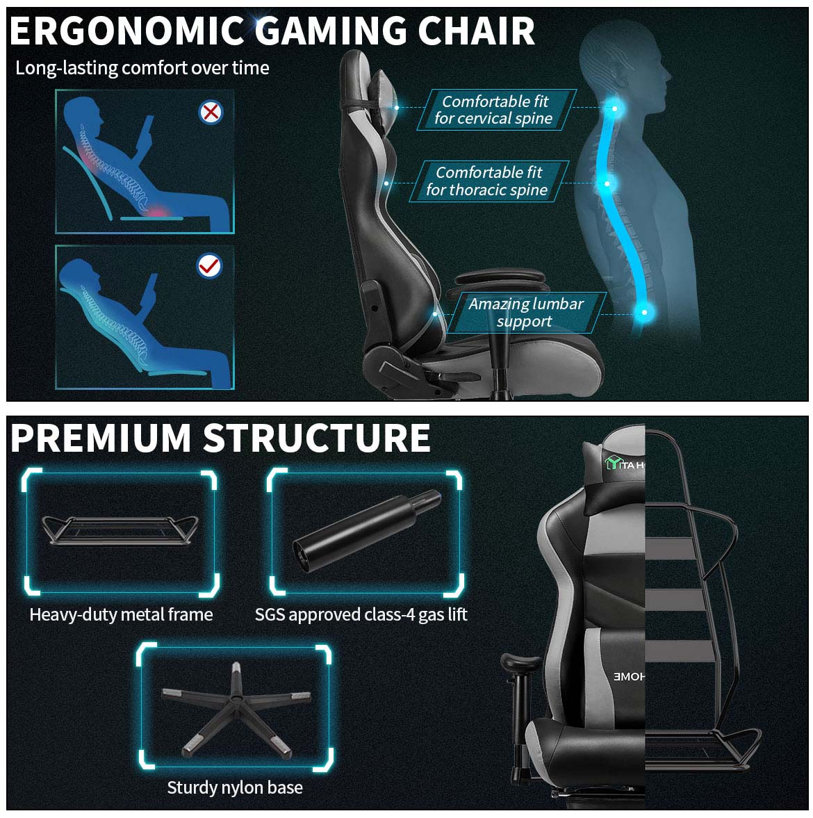 top gaming chairs oremium structure