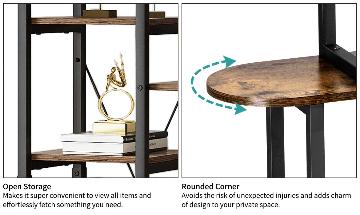 wooden bookcase detail feature