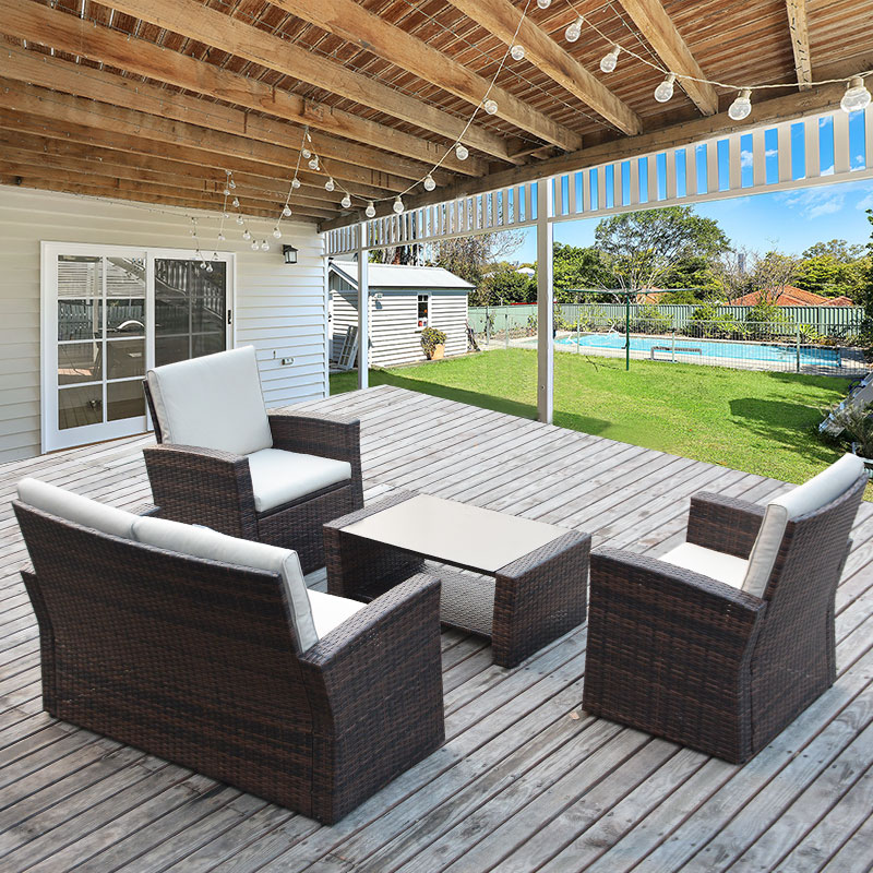 outdoor rest tables, chairs, umbrellas