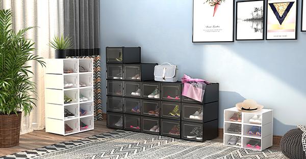 stackable shoe boxes